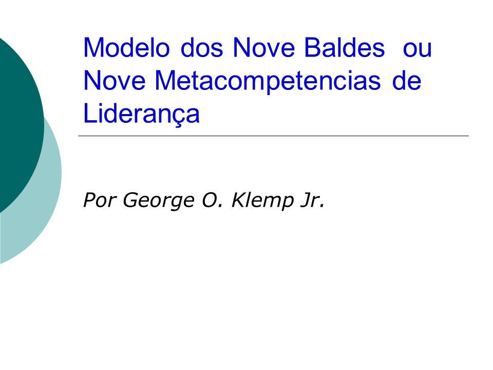 Modelo dos Nove Baldes ou Nove Metacompetencias de Liderança Por George O. Klemp Jr.