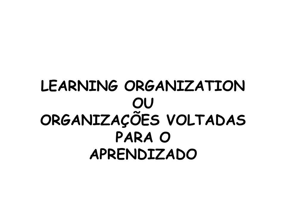 LEARNING ORGANIZATION OU ORGANIZAÇÕES VOLTADAS PARA O APRENDIZADO