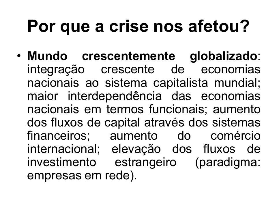 Por que a crise nos afetou.