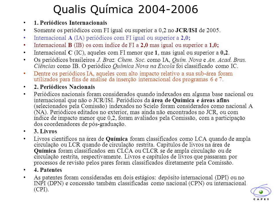Qualis Química 2004-2006 1.