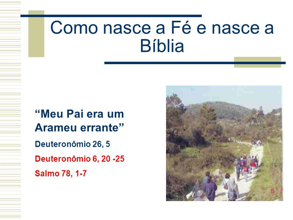 """Como nasce a Fé e nasce a Bíblia """"Meu Pai era um Arameu errante"""" Deuteronômio 26, 5 Deuteronômio 6, 20 -25 Salmo 78, 1-7"""