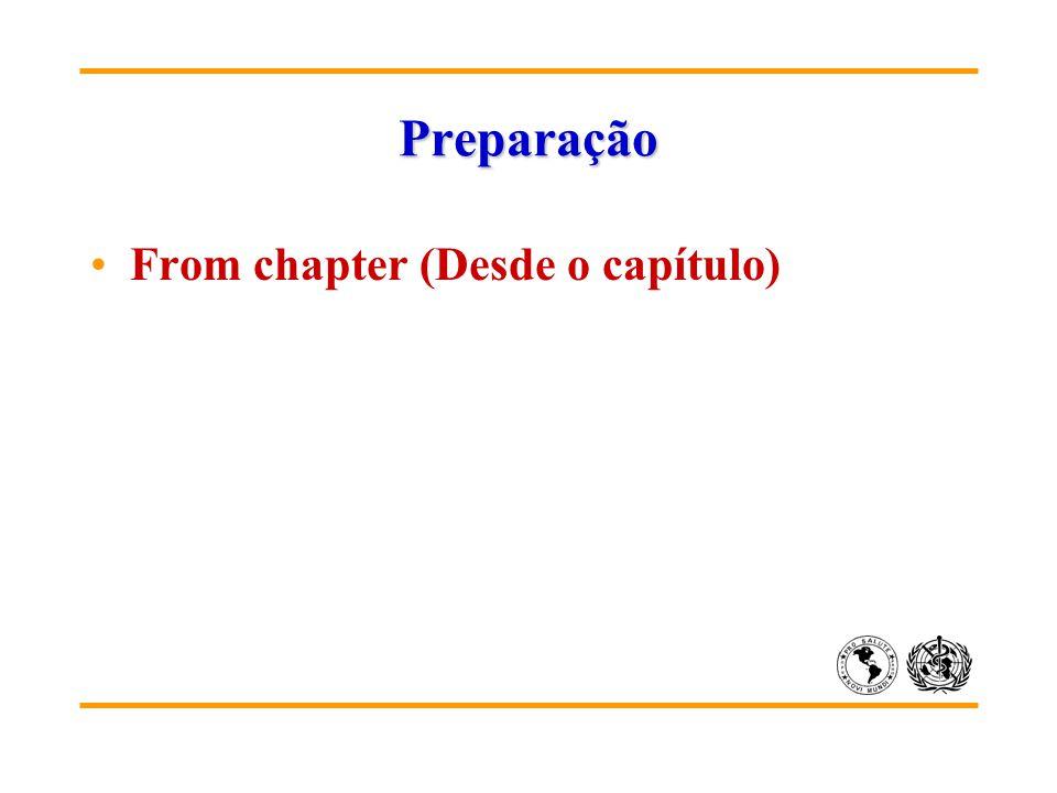 Preparação From chapter (Desde o capítulo)