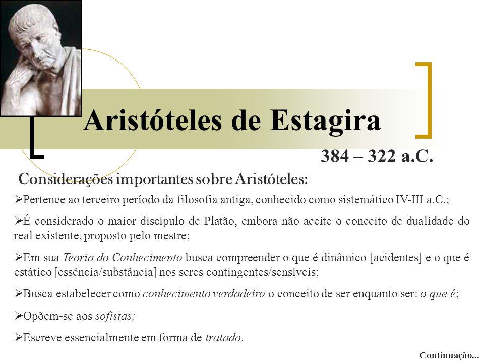 Aristóteles de Estagira 384 – 322 a.C.
