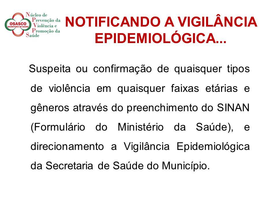 NOTIFICANDO A VIGILÂNCIA EPIDEMIOLÓGICA...