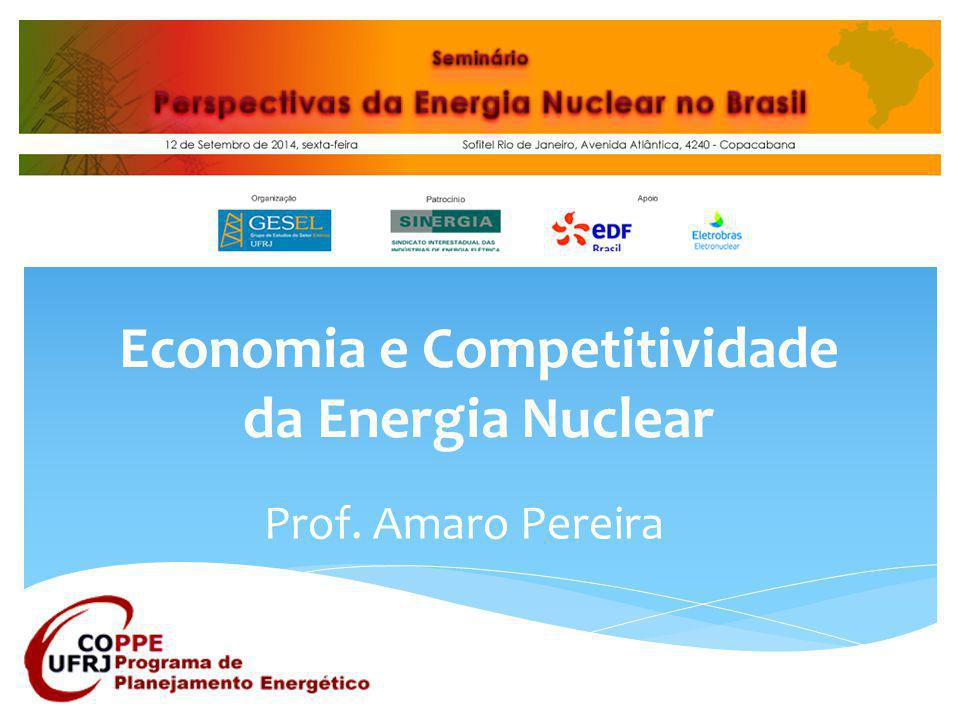 Economia e Competitividade da Energia Nuclear Prof. Amaro Pereira