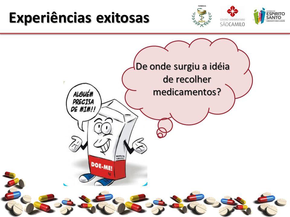 De onde surgiu a idéia de recolher medicamentos? Experiências exitosas