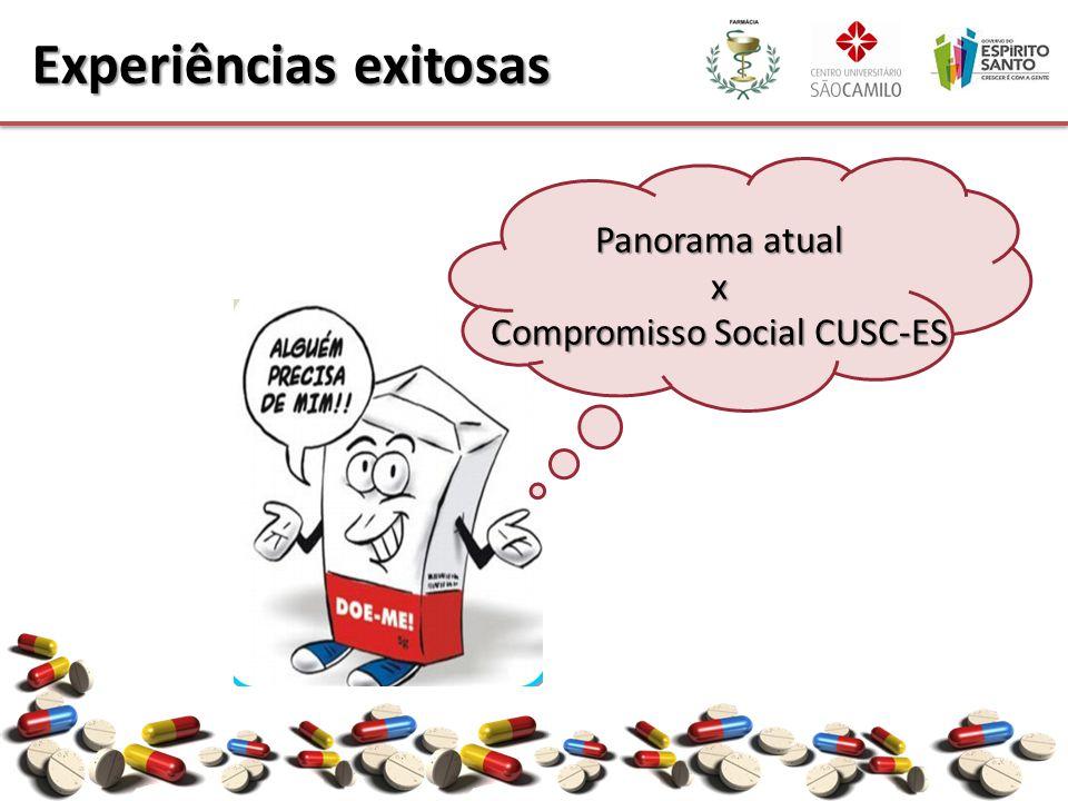 Panorama atual x Compromisso Social CUSC-ES