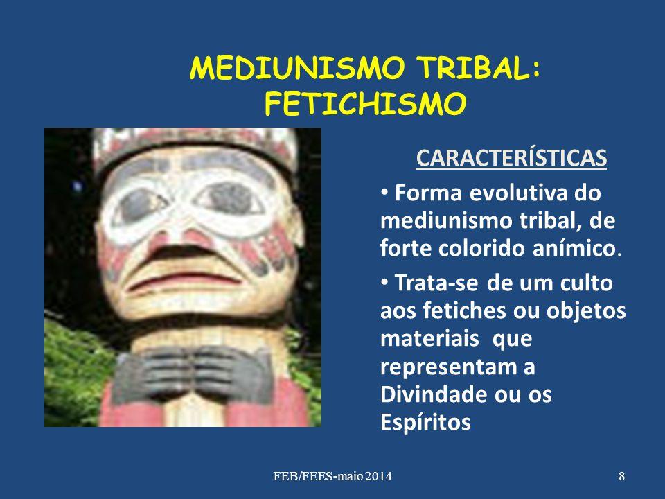 MEDIUNISMO TRIBAL: FETICHISMO CARACTERÍSTICAS Forma evolutiva do mediunismo tribal, de forte colorido anímico. Trata-se de um culto aos fetiches ou ob