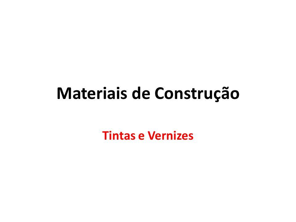 Materiais de Construção Tintas e Vernizes