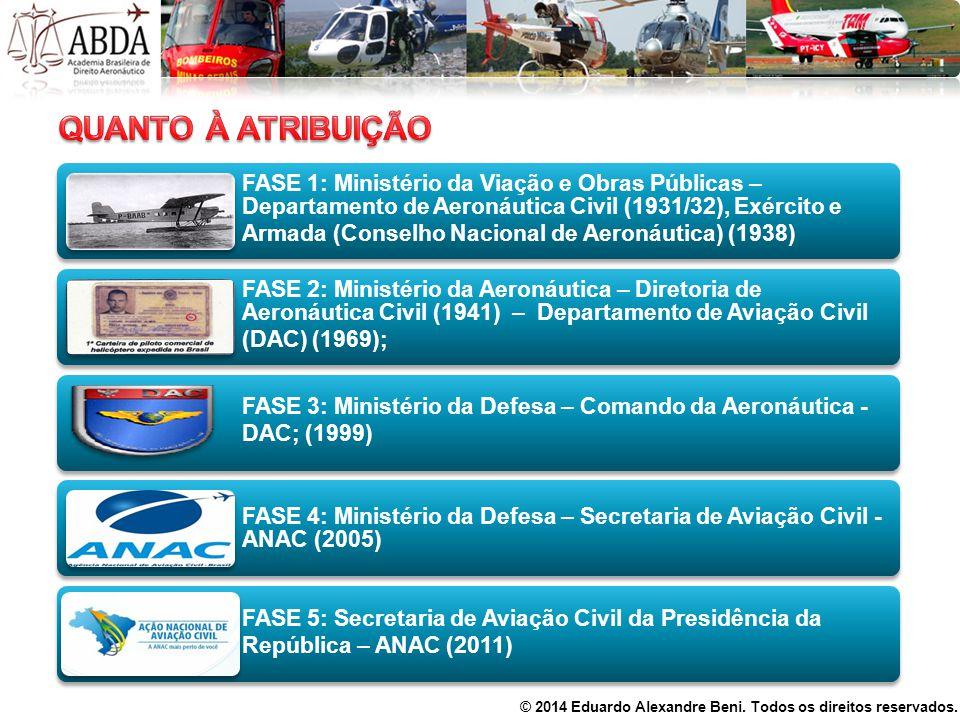 FASE 1: Ministério da Viação e Obras Públicas – Departamento de Aeronáutica Civil (1931/32), Exército e Armada (Conselho Nacional de Aeronáutica) (193