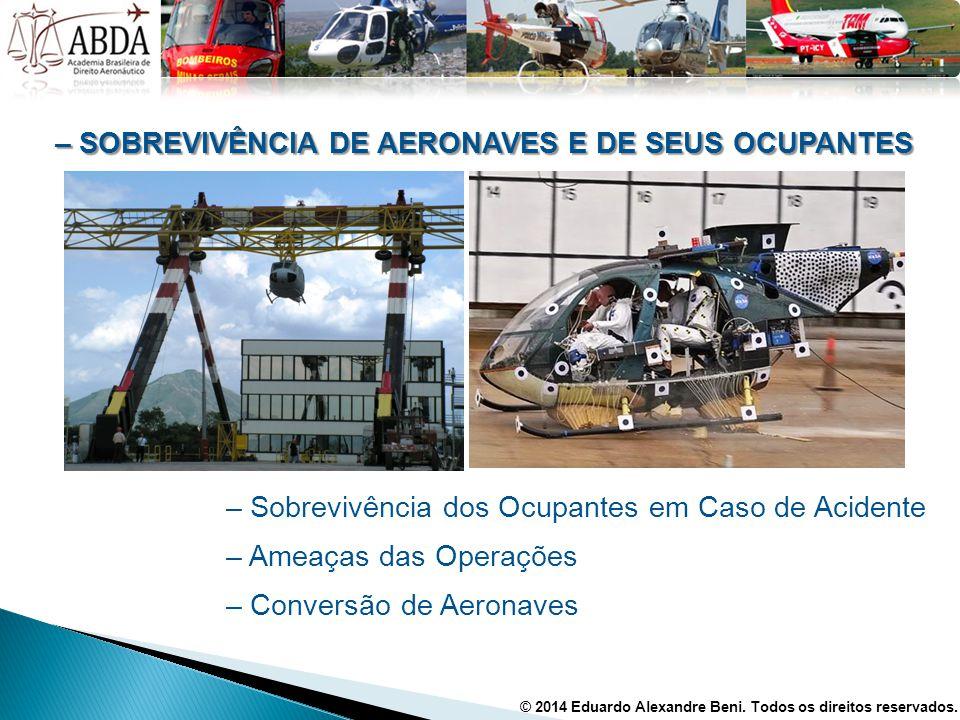 – SOBREVIVÊNCIA DE AERONAVES E DE SEUS OCUPANTES – Sobrevivência dos Ocupantes em Caso de Acidente – Ameaças das Operações – Conversão de Aeronaves ©