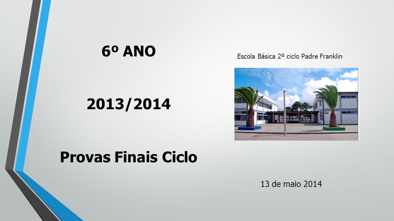 Escola Básica 2º ciclo Padre Franklin 6º ANO 2013/2014 Provas Finais Ciclo 13 de maio 2014
