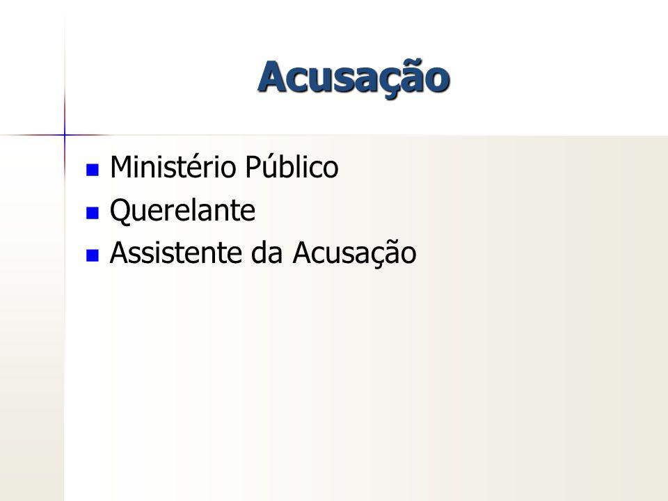Acusação Ministério Público Querelante Assistente da Acusação