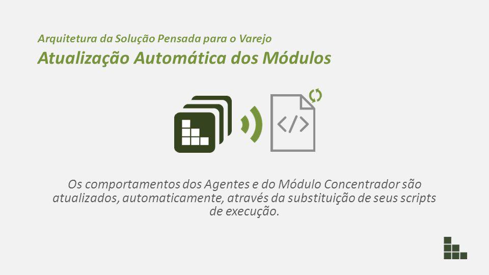 Os comportamentos dos Agentes e do Módulo Concentrador são atualizados, automaticamente, através da substituição de seus scripts de execução. Arquitet