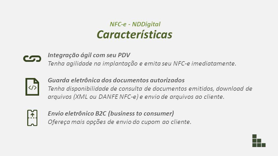 Integração ágil com seu PDV Tenha agilidade na implantação e emita seu NFC-e imediatamente. Guarda eletrônica dos documentos autorizados Tenha disponi