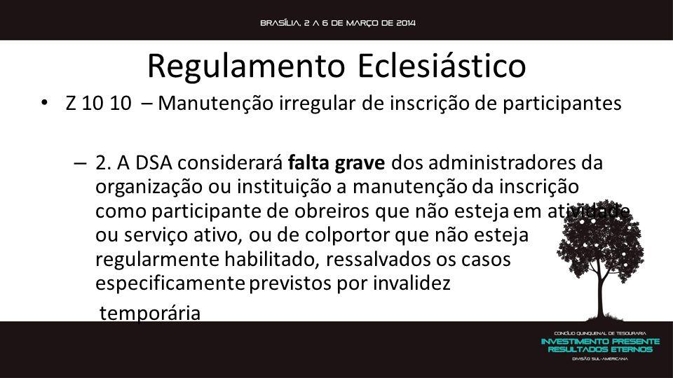 Regulamento Eclesiástico E 12 20 S Passos ao disciplinar administrativamente um obreiro – 1.