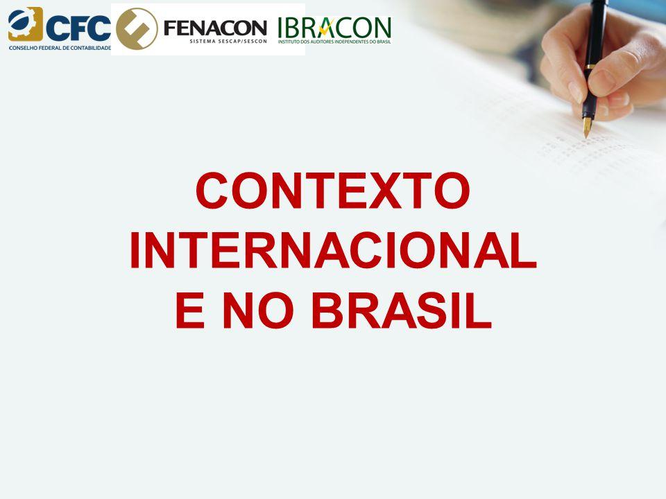 CONTEXTO INTERNACIONAL E NO BRASIL
