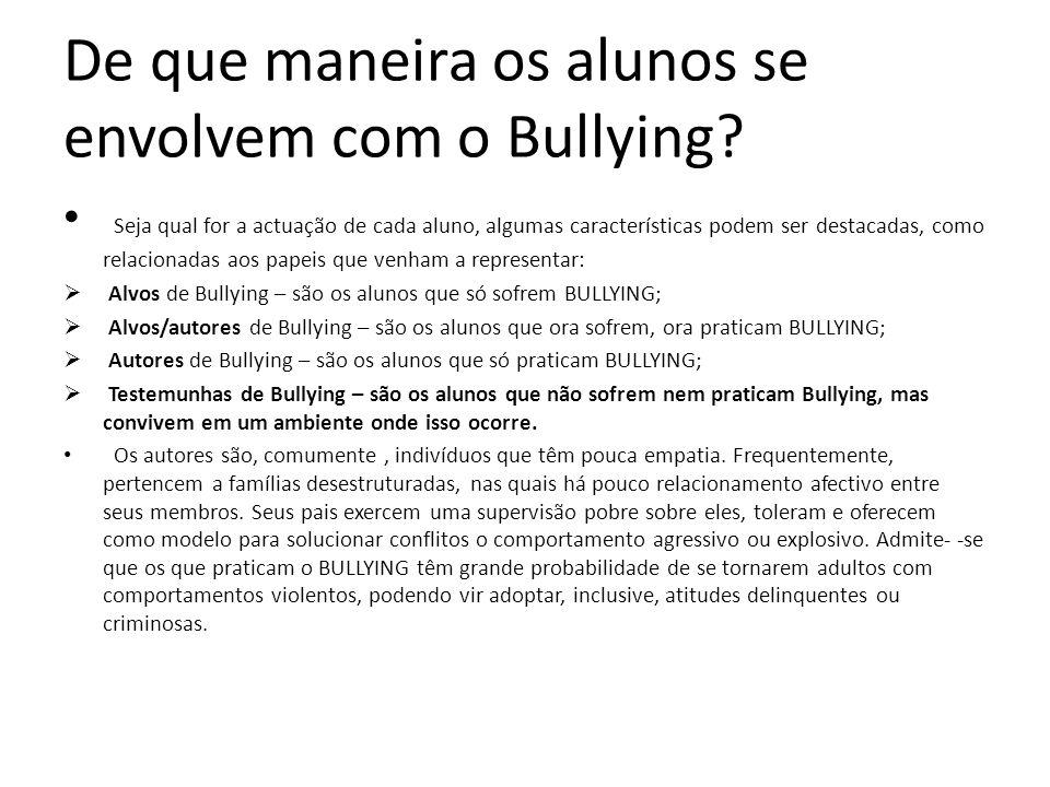 E o Bullying envolve muita gente.
