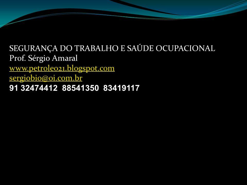 SEGURANÇA DO TRABALHO E SAÚDE OCUPACIONAL Prof.
