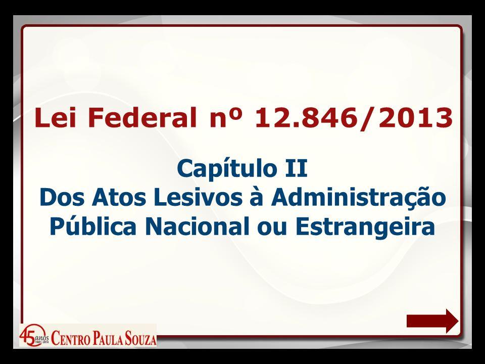 Lei Federal nº 12.846/2013 Capítulo II Dos Atos Lesivos à Administração Pública Nacional ou Estrangeira