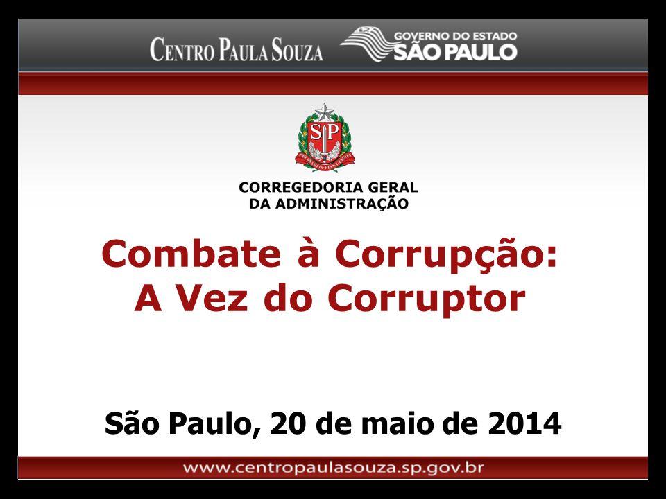 Combate à Corrupção: A Vez do Corruptor São Paulo, 20 de maio de 2014