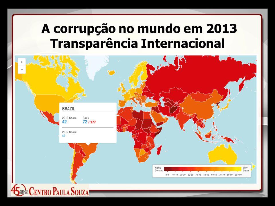 A corrupção no mundo em 2013 Transparência Internacional