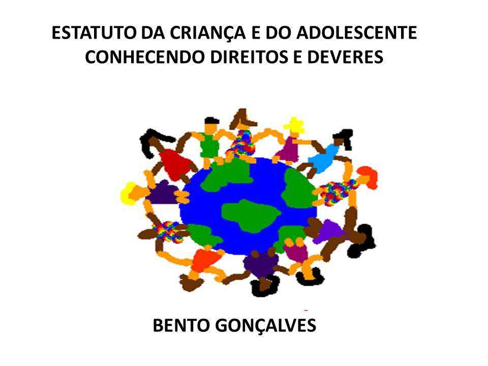 ESTATUTO DA CRIANÇA E DO ADOLESCENTE CONHECENDO DIREITOS E DEVERES ANGELA MENDONÇA BENTO GONÇALVES