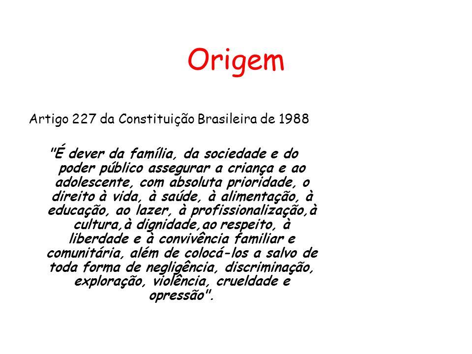 Origem Artigo 227 da Constituição Brasileira de 1988