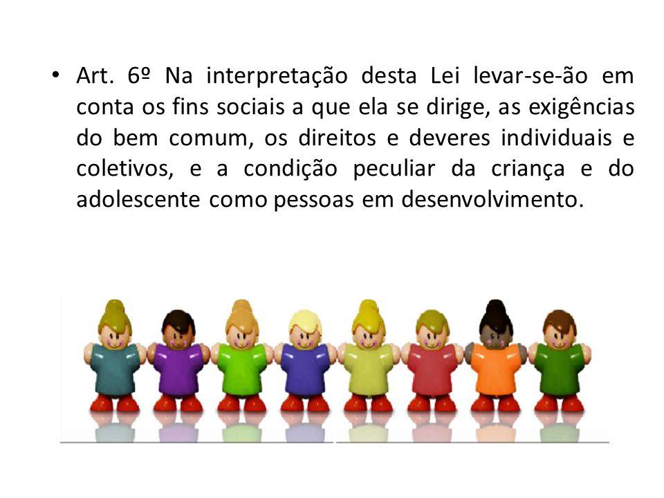 Art. 6º Na interpretação desta Lei levar-se-ão em conta os fins sociais a que ela se dirige, as exigências do bem comum, os direitos e deveres individ