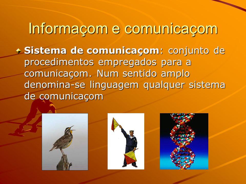 Informaçom e comunicaçom Sistema de comunicaçom: conjunto de procedimentos empregados para a comunicaçom.