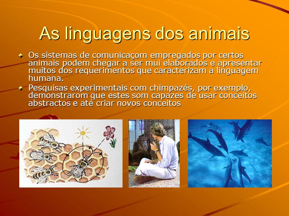 A linguagem humana nom verbal A denominada linguagem corporal humana apresenta muitas afinidades com alguns tipos de linguagens empregadas polos animais...