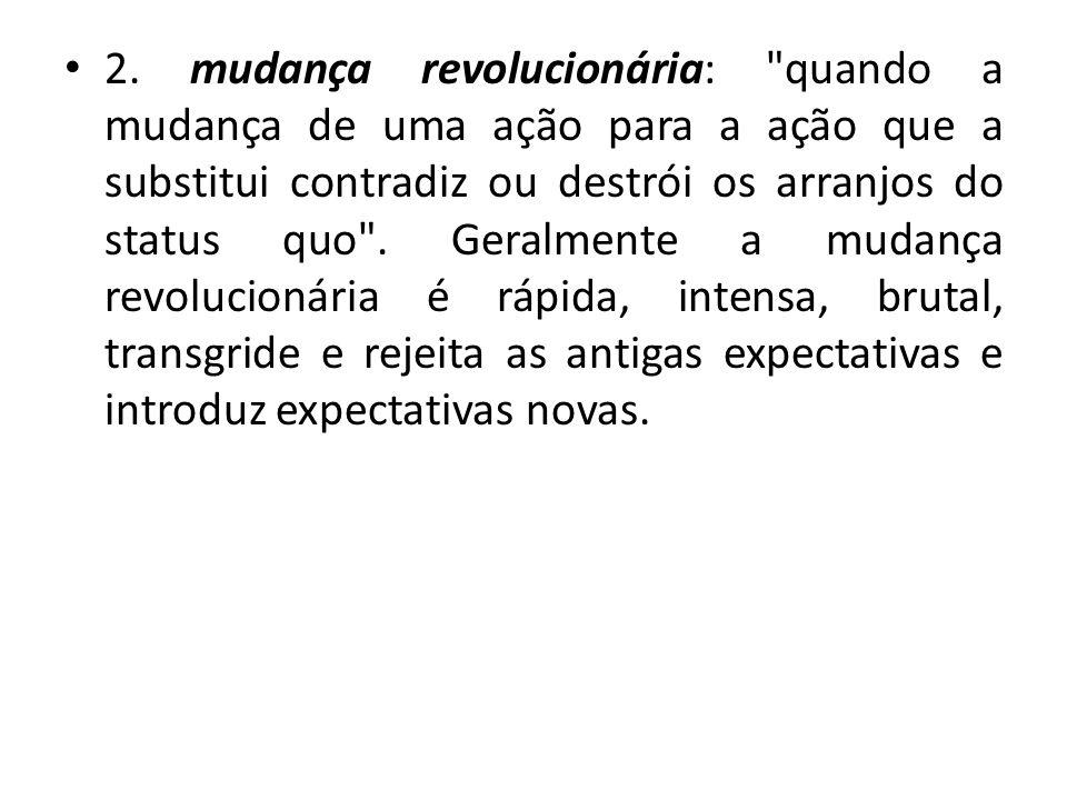 2. mudança revolucionária: