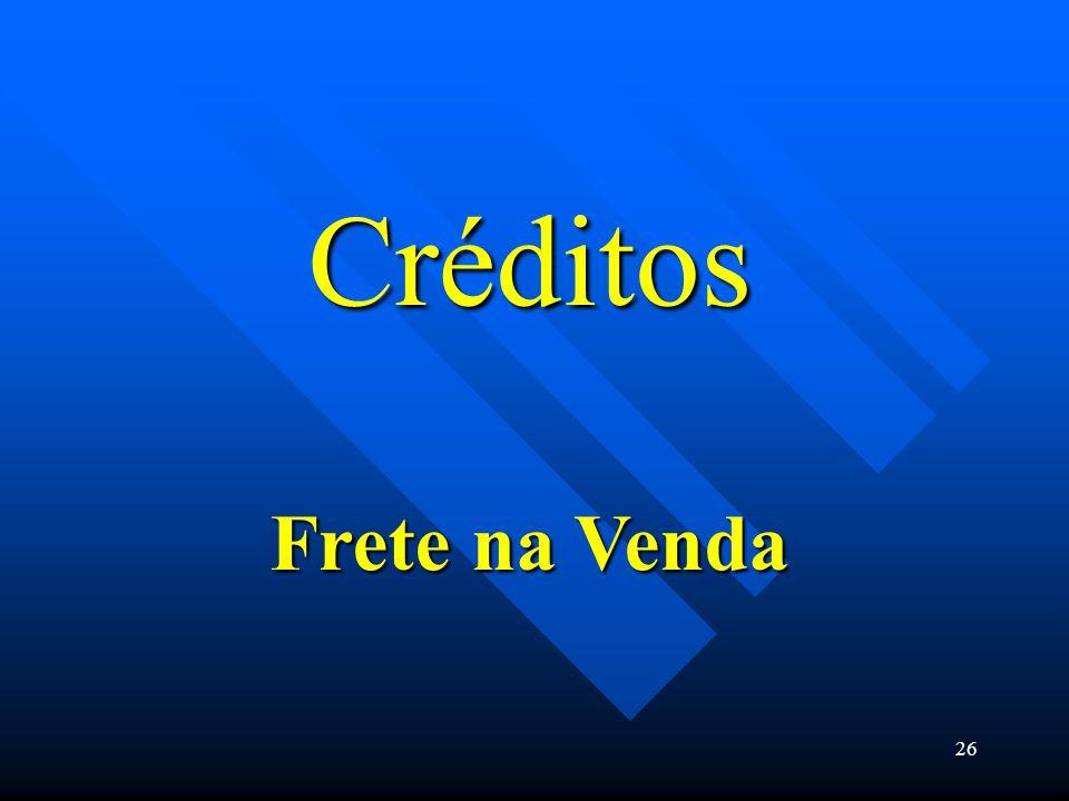 Créditos Frete na Venda 26