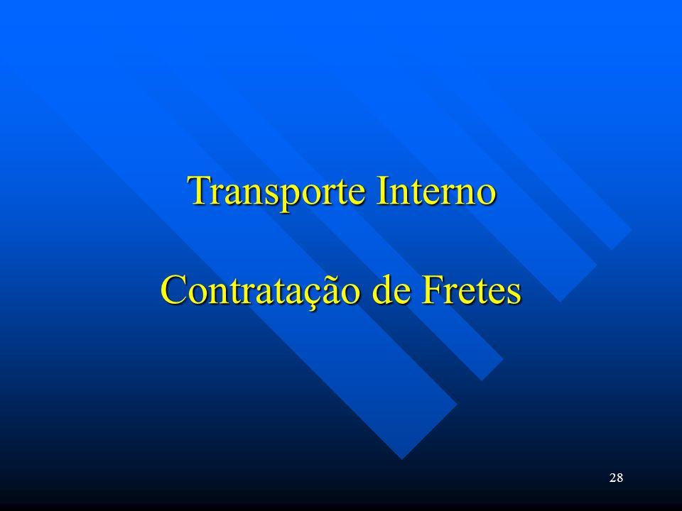 Transporte Interno Contratação de Fretes 28
