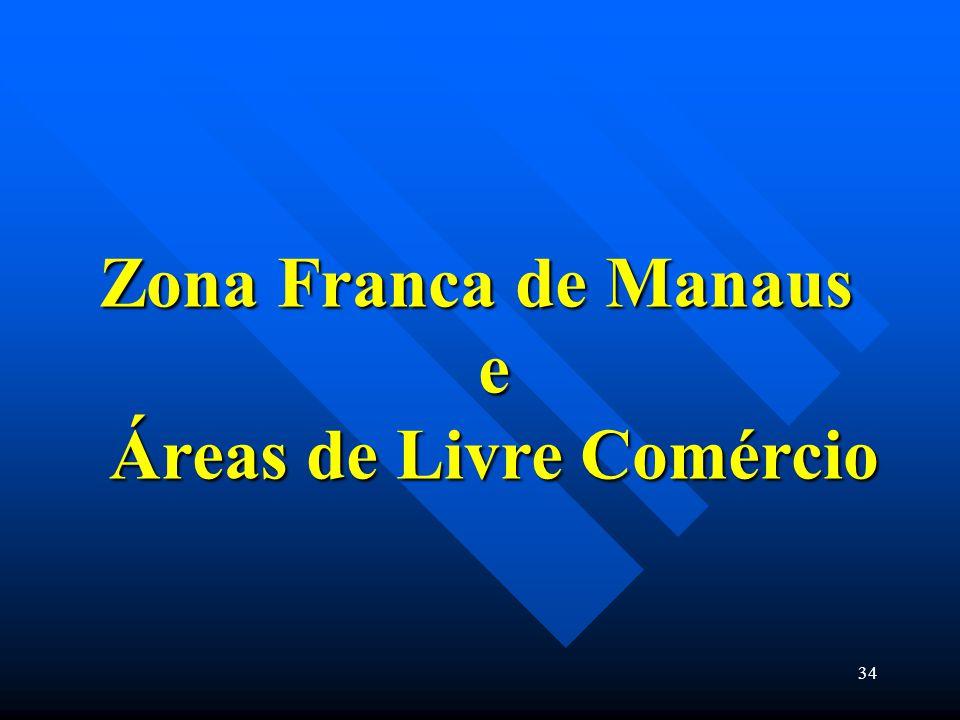 Zona Franca de Manaus e Áreas de Livre Comércio 34
