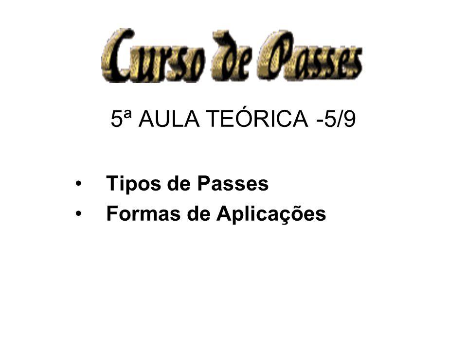 5ª AULA TEÓRICA -5/9 Tipos de Passes Formas de Aplicações