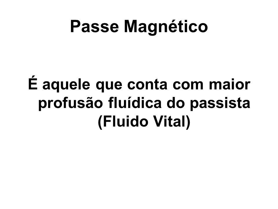 Passe Misto É a conjugação fluídica proporcional de ambos os meios, o espiritual e o humano.