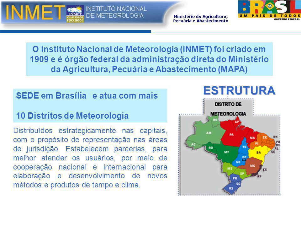 Ministério da Agricultura, Pecuária e Abastecimento ESTRUTURA Distribuídos estrategicamente nas capitais, com o propósito de representação nas áreas d