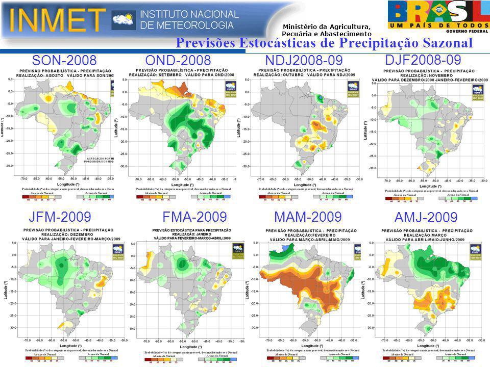 Previsões Estocásticas de Precipitação Sazonal SON-2008OND-2008NDJ2008-09 DJF2008-09 JFM-2009FMA-2009MAM-2009 AMJ-2009