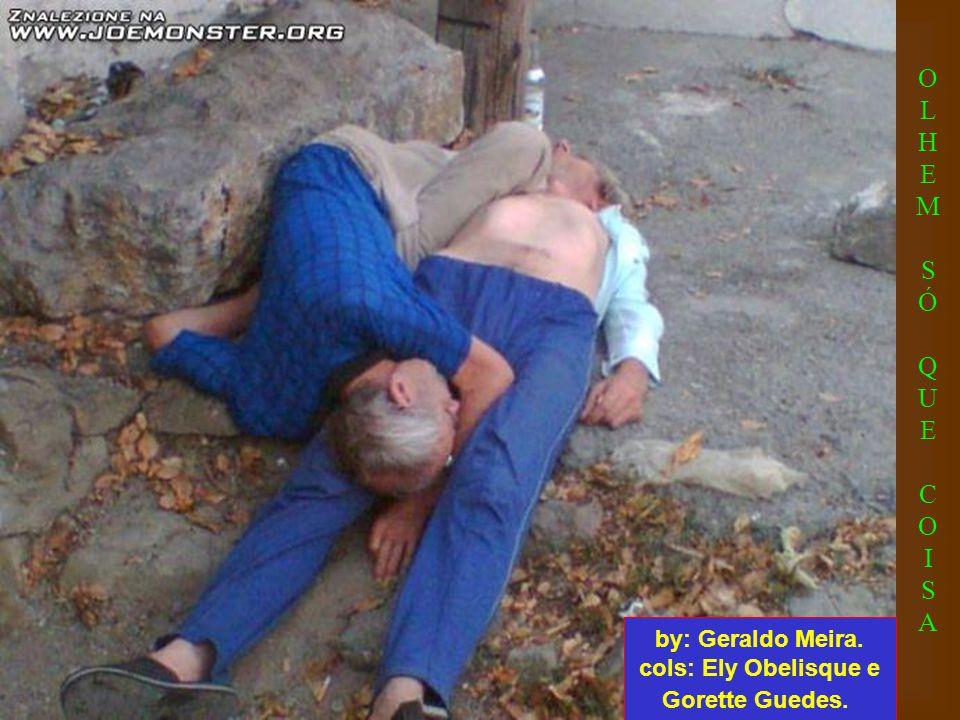 O pinguço enxotado de casa pela mulher, que não tava a fim de dormir cheirando bafo de pinga, vai a um beco, acaba dormindo no chão e tem o relógio ro