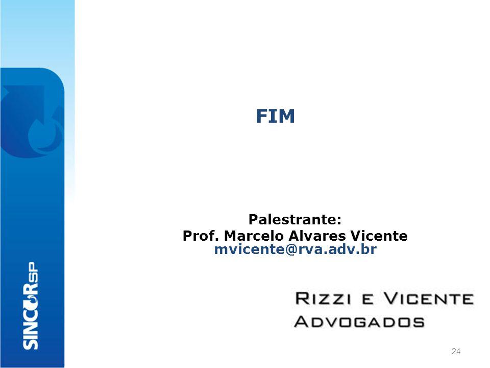 FIM Palestrante: Prof. Marcelo Alvares Vicente mvicente@rva.adv.br 24