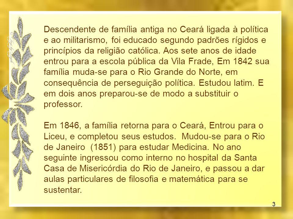 Adolfo Bezerra de Menezes Cavalcanti nasceu em Riacho do Sangue hoje Jaguaretama, Ceará, em 29 de agosto de 1831 2 desencarnou em 11 de abril de 1900,