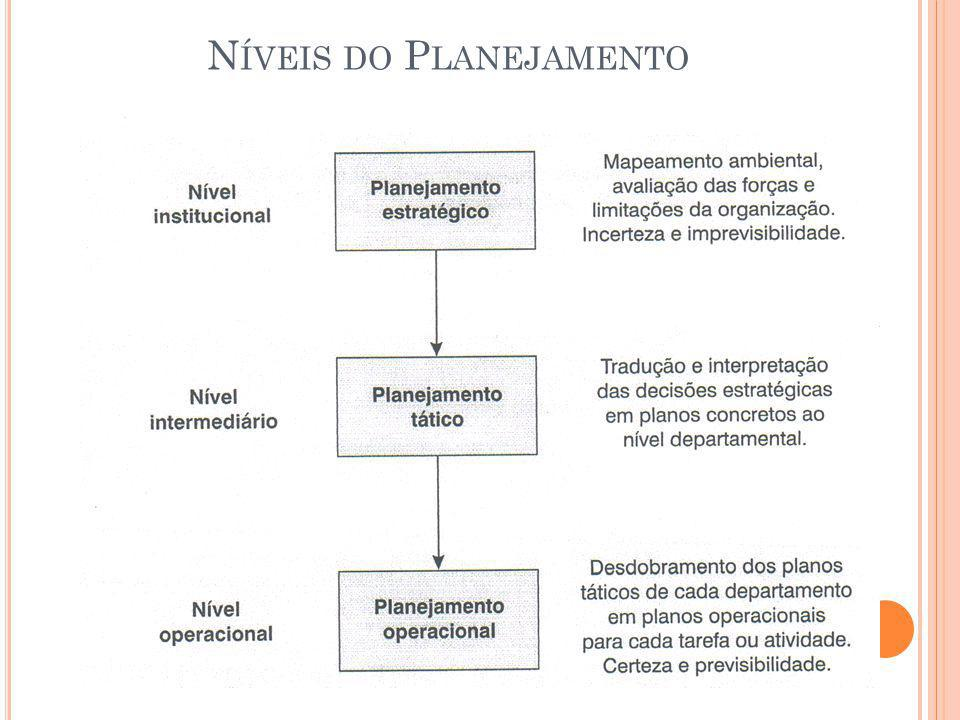 N ÍVEIS DO P LANEJAMENTO