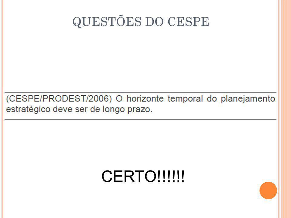 QUESTÕES DO CESPE CERTO!!!!!!
