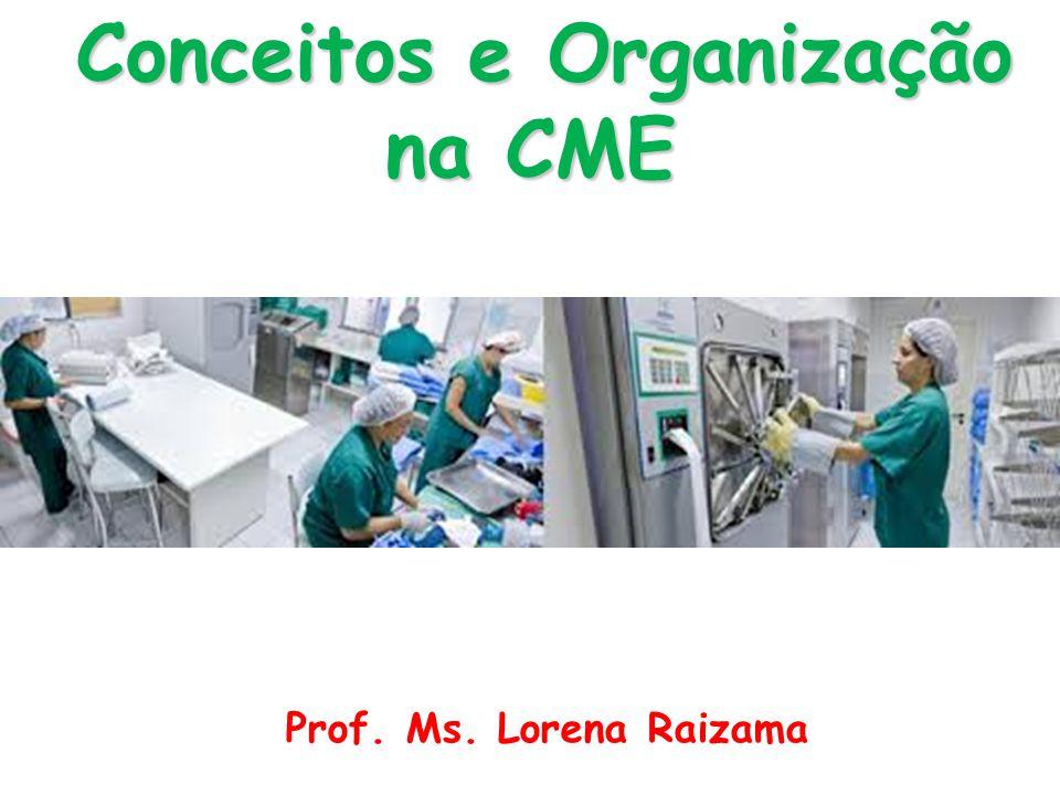 Prof. Ms. Lorena Raizama Conceitos e Organização na CME Conceitos e Organização na CME