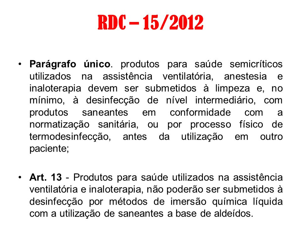RDC 08 –27/02/2009 Art.