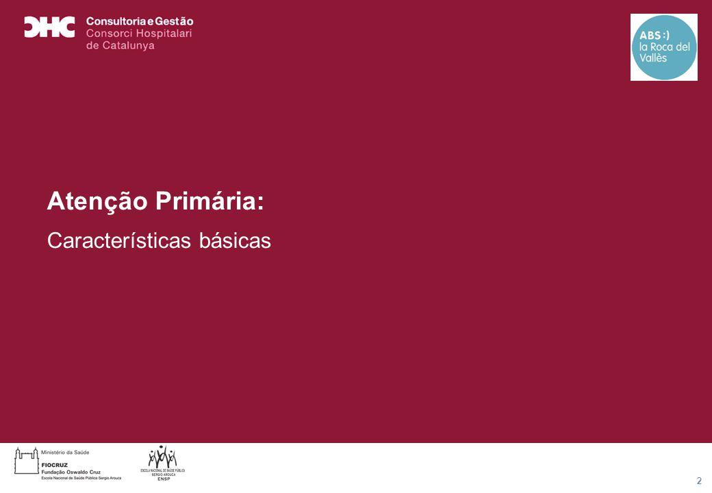 Título general da apresentação - CHC Consultoria e Gestão 2 Atenção Primária: Características básicas