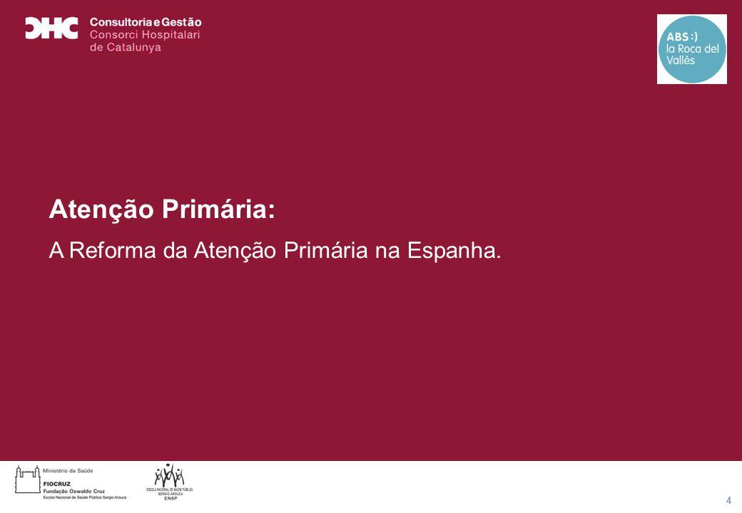 Título general da apresentação - CHC Consultoria e Gestão 4 Atenção Primária: A Reforma da Atenção Primária na Espanha.