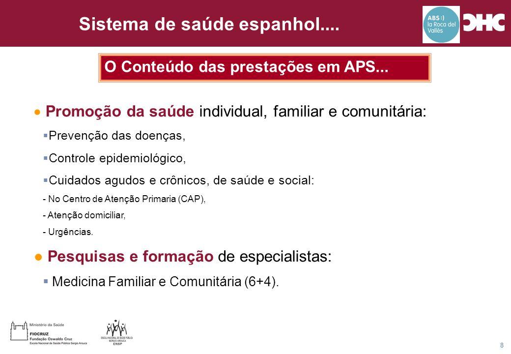 Título general da apresentação - CHC Consultoria e Gestão 8 O Conteúdo das prestações em APS...  Promoção da saúde individual, familiar e comunitária