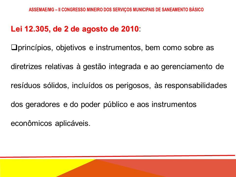 POLÍTICA ESTADUAL DE RESÍDUOS SÓLIDOS LEI Nº 18.031, DE 12/01/2009 DECRETO Nº 45.181, DE 25/09/2009 Dispõe sobre a Política Estadual de Resíduos Sólid